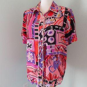 Vintage Bob Mackie Animal Print Shirt
